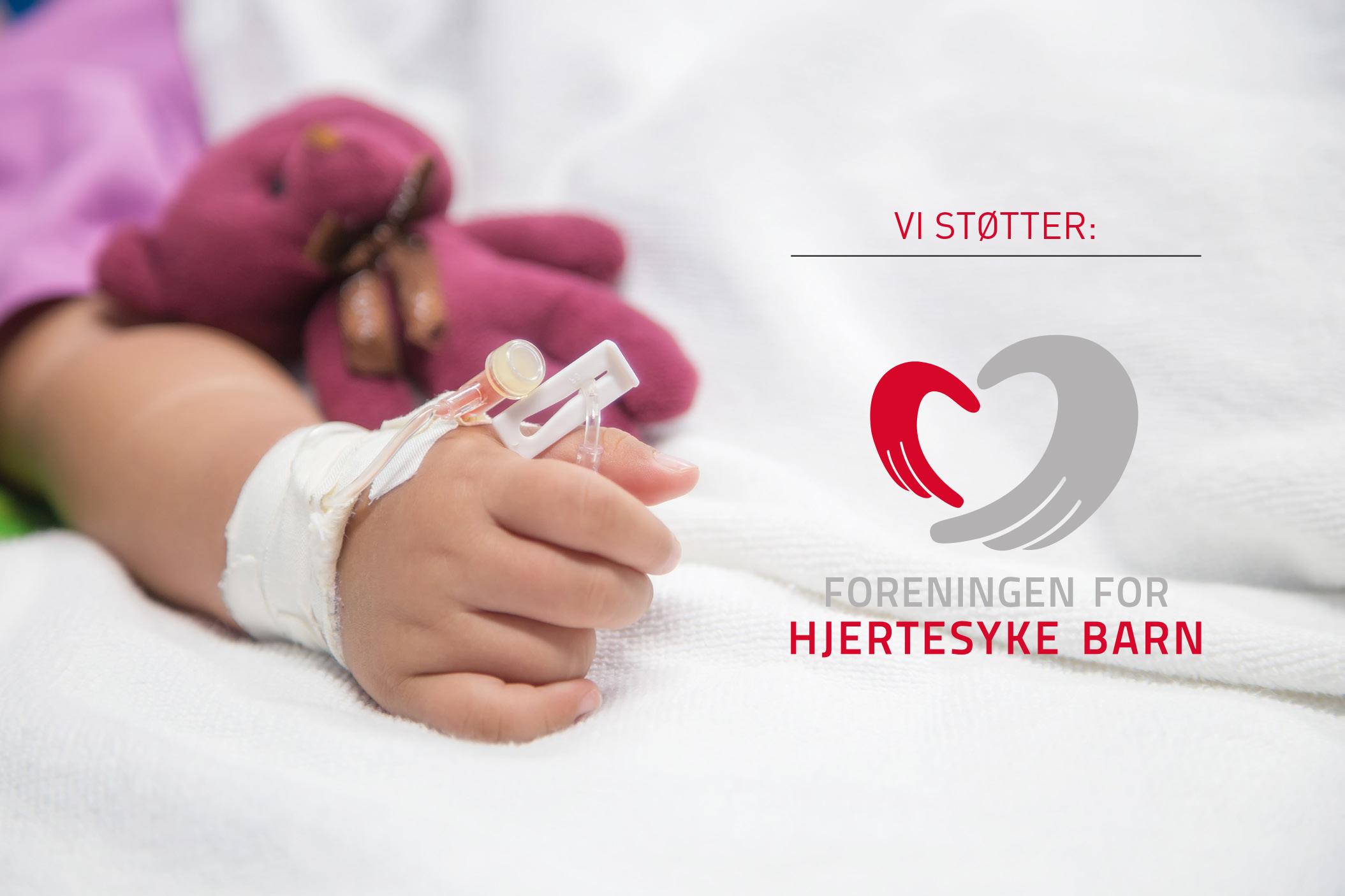 Lillebaby størrer foreningen for hjertesyke barn